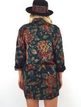 Load image into Gallery viewer, Vintage Long Floral and Paisley Print Blazer