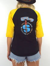 Load image into Gallery viewer, Vintage 80s Black and Yellow Adam Ant Baseball Tee