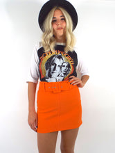 Load image into Gallery viewer, Vintage 90s Orange Belted High-Waist Mini Skirt