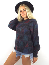 Load image into Gallery viewer, Vintage 90s Cozy Triangle Print Oversized Graphic Sweater