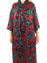 Load image into Gallery viewer, Vintage 90s Long Floral Print Burnout Style Kimono