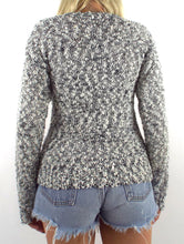 Load image into Gallery viewer, Vintage Grey Slouchy Star Print Sweater