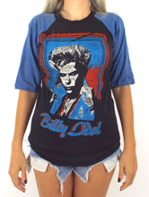 Load image into Gallery viewer, Vintage 80s Black and Blue Billy Idol White Wedding Baseball Tee Size Small
