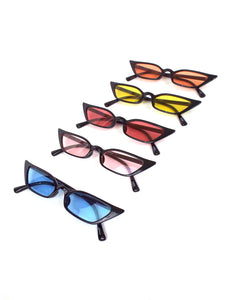 In Living Color Tinted Lense Cat Eye Sunglasses