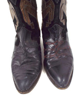 Load image into Gallery viewer, Vintage Metallic Horse Design Cowboy Boots -- Size 7