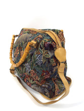 Load image into Gallery viewer, Vintage Large Tapestry Style Safari Wild Animal Print Overnight Bag