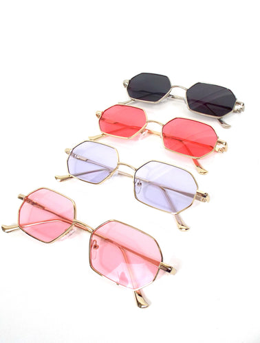 Spring Fling Colorful Tinted Wire Frame Sunglasses