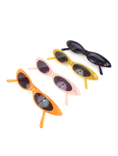 Take Me to Your Leader Skinny Oval Shaped Sunglasses