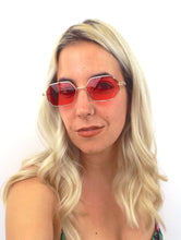 Load image into Gallery viewer, Spring Fling Colorful Tinted Wire Frame Sunglasses Hot Pink