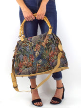 Load image into Gallery viewer, Vintage Tapestry Style Safari Wild Animal Print Overnight Bag