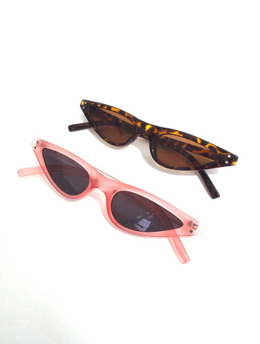 Y2K Translucent Skinny Cat Eye Sunglasses