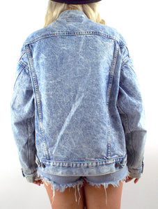 Vintage 90s Oversized Acid Wash Levi's Denim Jacket