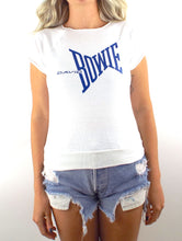 Load image into Gallery viewer, Vintage 80s Blue and White David Bowie Sleeveless Sweatshirt - Size Extra Small