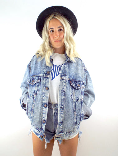 Vintage 90s Boxy Oversized Acid Wash Levi's Denim Jacket