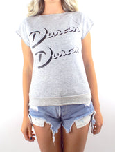 Load image into Gallery viewer, Vintage 80s Duran Duran Grey Sleeveless Sweatshirt Size Small