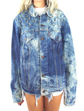 Load image into Gallery viewer, Studded and Bleached Vintage Levi's Oversized Denim Jacket