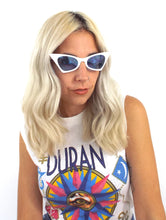 Load image into Gallery viewer, Donna Cat Eye Sunglasses - White and Blue