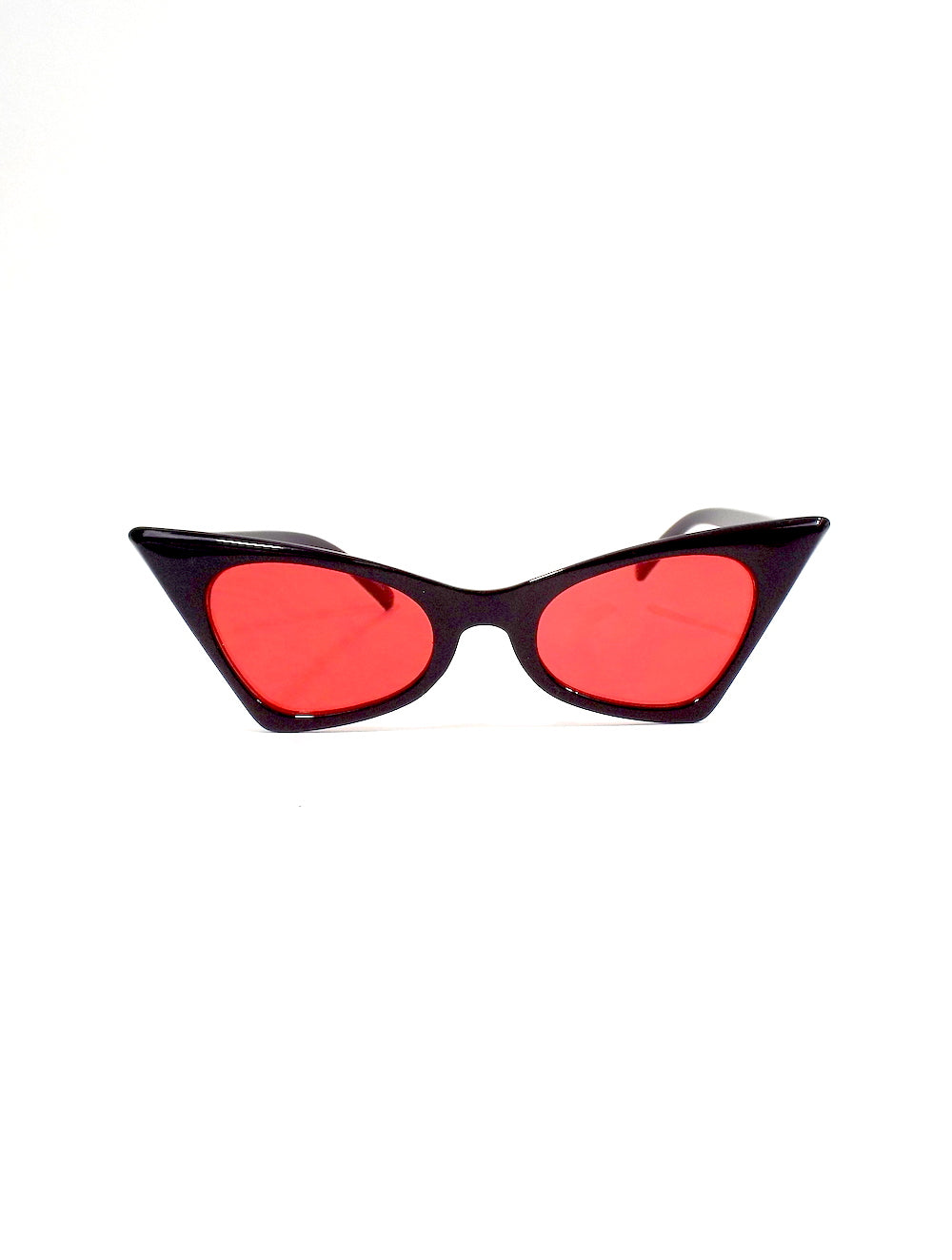 Donna Cat Eye Sunglasses - Black and Red