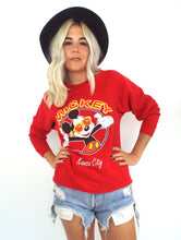 Load image into Gallery viewer, Vintage 80s Mickey Mouse Red Kansas City Tourist Sweatshirt