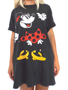 Vintage 90s Oversized Distressed Minnie Mouse Tee