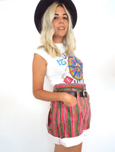 Load image into Gallery viewer, Vintage Colorful Striped High-Waist Roll Cuff Shorts -- Size 29/30