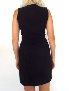 Business Bitch Vintage 90s Black Belted Dress - Size Small