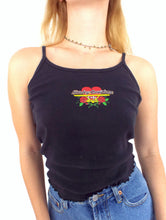 Load image into Gallery viewer, Vintage 90s Heart and Rose Design Harley-Davidson Spaghetti Strap Tank