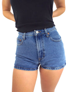 Vintage 90s High-Waist Medium Wash Gap Denim Shorts -- Size 27
