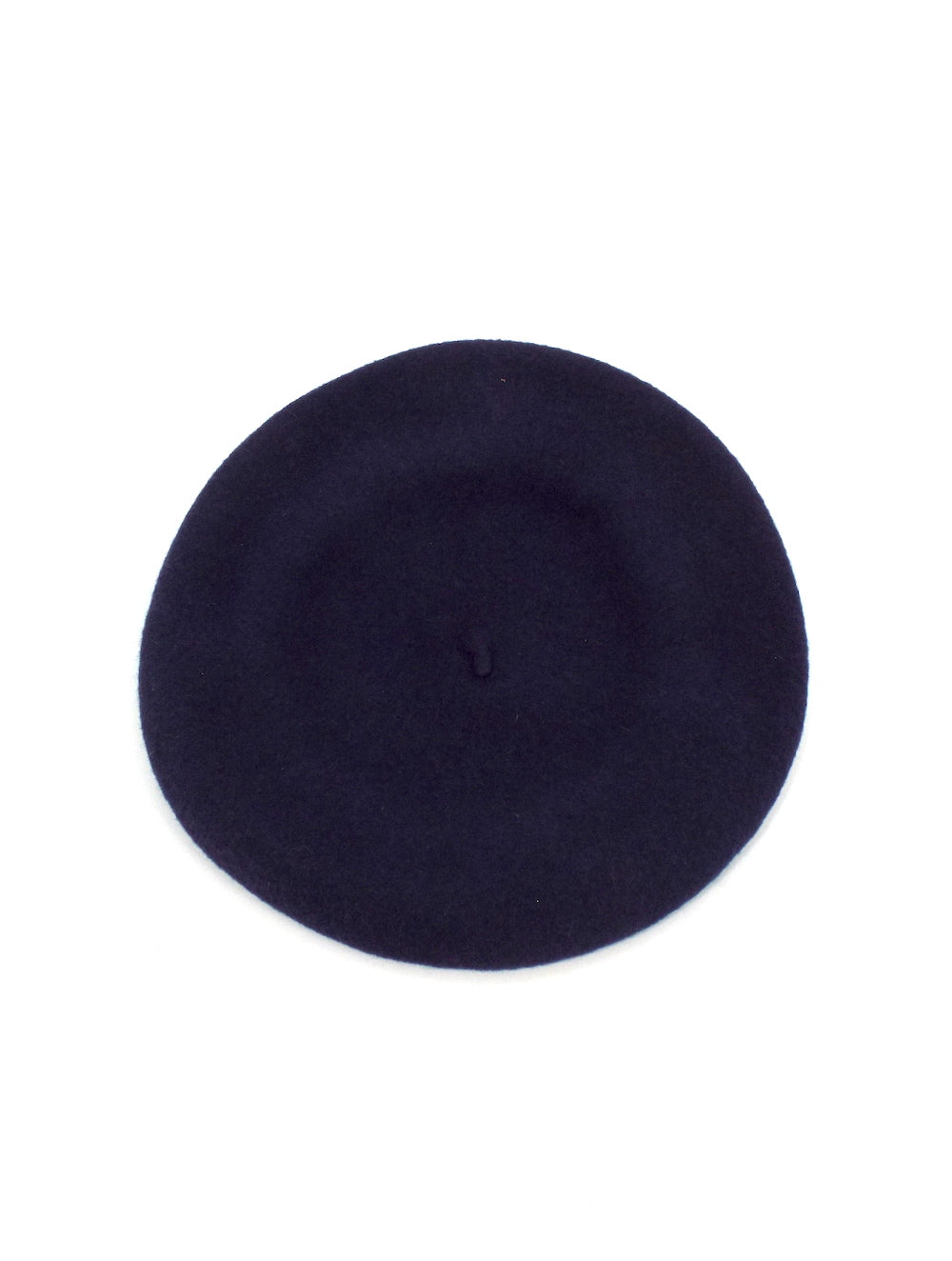 Vintage Navy Blue Wool Beret