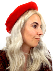 Vintage Red Wool Kangol Beret