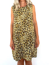 Load image into Gallery viewer, Vintage 90s Flowy Leopard Print Shift Dress