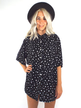 Load image into Gallery viewer, Vintage 80s Oversized Polka Dot Button Down Blouse