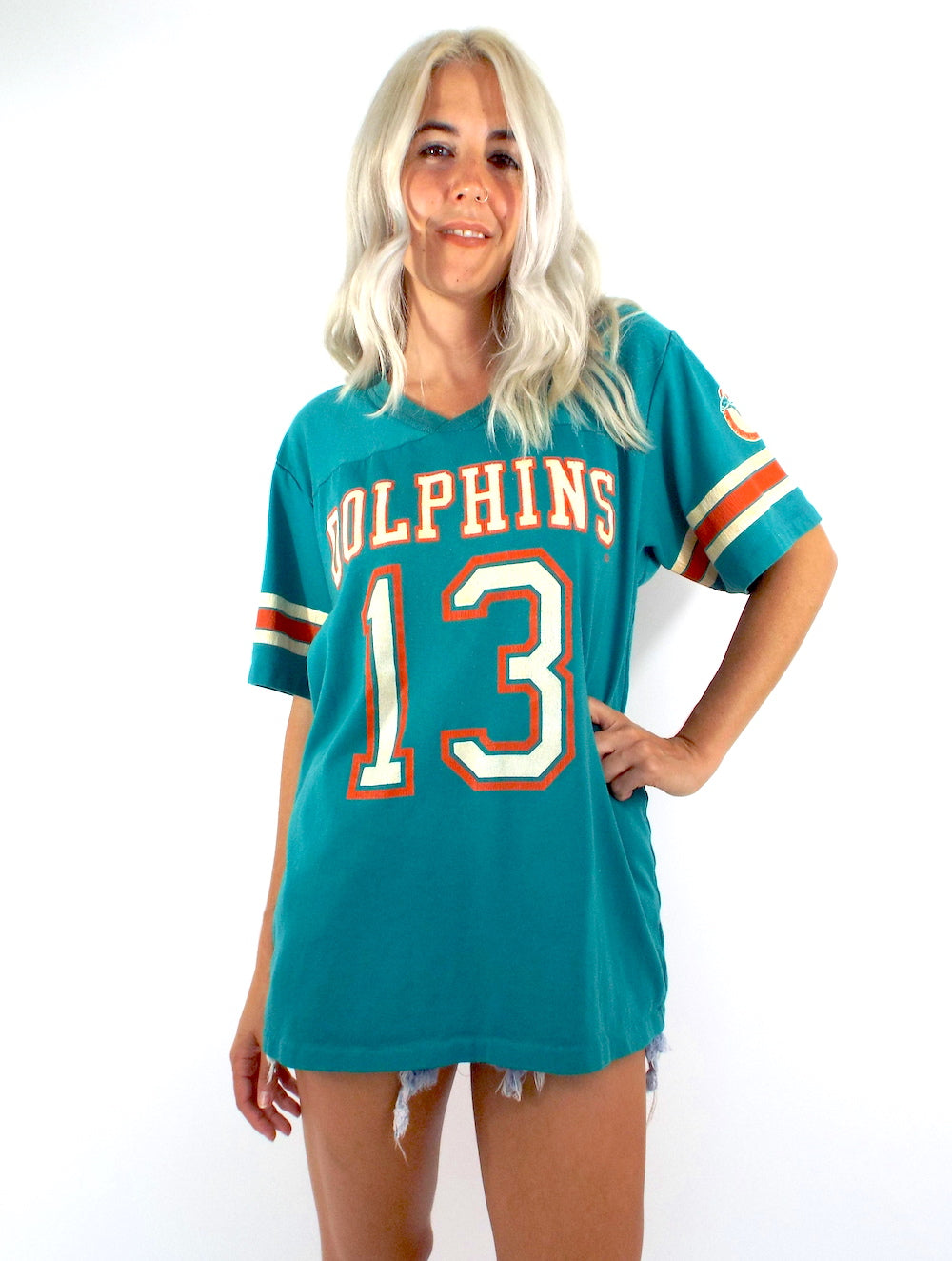 Vintage 80s Miami Dolphins Jersey Tee