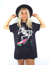 Load image into Gallery viewer, Vintage Oversized Paper Thin Skateboarding Skeleton Tee