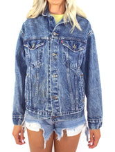 Load image into Gallery viewer, Vintage 90s Faded Dark Wash Levi's Denim Jacket