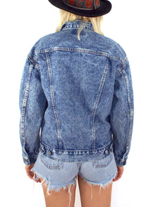Vintage 90s Faded Dark Wash Levi's Denim Jacket
