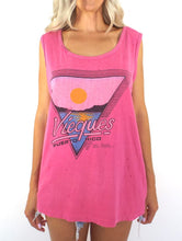 Load image into Gallery viewer, Vintage 80s Pink Distressed Vieques, Puerto Rico Tank
