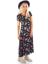Load image into Gallery viewer, Vintage 90s Floral Print Maxi Dress - Size Small