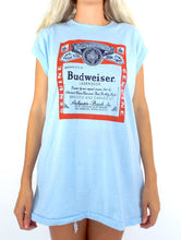 Load image into Gallery viewer, Vintage 80s Oversized Baby Blue Budweiser Tank