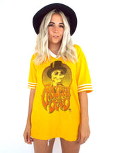 Load image into Gallery viewer, Vintage 90s Grateful Dead Gold and White Skeleton Tee