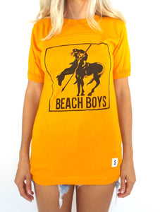 Vintage 70s Gold and Black Beach Boys Tee