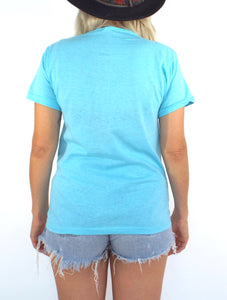Vintage Baby Blue Queen Tee -- Size Extra Small
