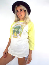 Load image into Gallery viewer, Vintage 1976 Bruce Springsteen Yellow and White Baseball Tee