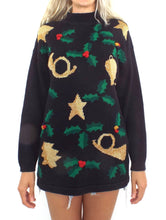 Load image into Gallery viewer, Jingle Bell Rock Vintage 90s Ugly Christmas Sweater