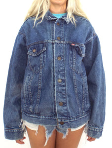 Vintage 80s Oversized Medium Wash Levi's Denim Jacket
