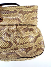 Load image into Gallery viewer, Vintage 80s Python Print Snakeskin Crossbody Purse