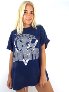 Vintage 90s Oversized Navy Blue Dallas Cowboys Tee