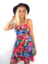 Load image into Gallery viewer, Vintage 90s Colorful Floral Print Romper