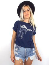 Load image into Gallery viewer, Vintage 70s Distressed Navy Blue Lock Stock & Barrel Tee