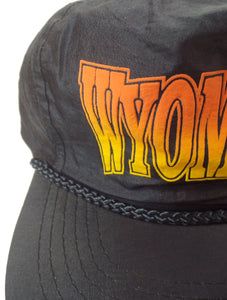 Vintage 80s 90s Neon Orange and Yellow Wyoming Nylon Hat